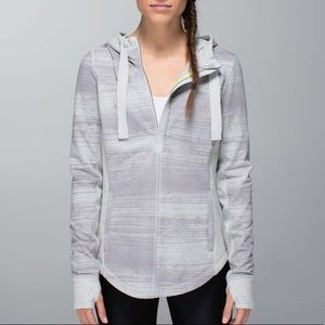 Lululemon Post Sweat Pullover Stripe Silver Spoon